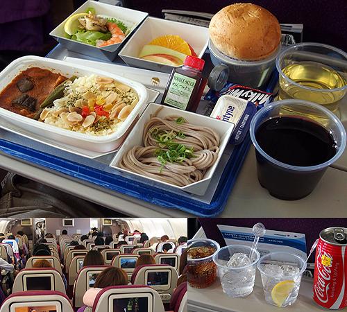 MAS(マレーシア航空)では機内の食事、ビールやワインなどのアルコール飲料を含むドリンクも無料サービス。そして機内エンターテイメントで映画も無料!